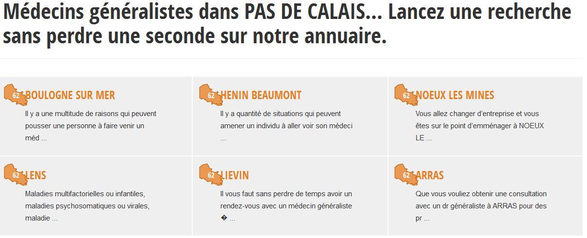 Retrouvez la liste des médecins de garde à Pas-de-Calais sur Medecin-info.fr