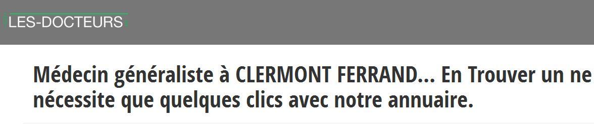 Les-docteurs.fr recense les médecins à Clermont-Ferrand