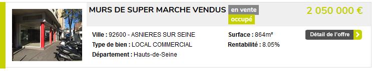 Parmi les annonces de vente de murs commerciaux à Paris - Perfia…