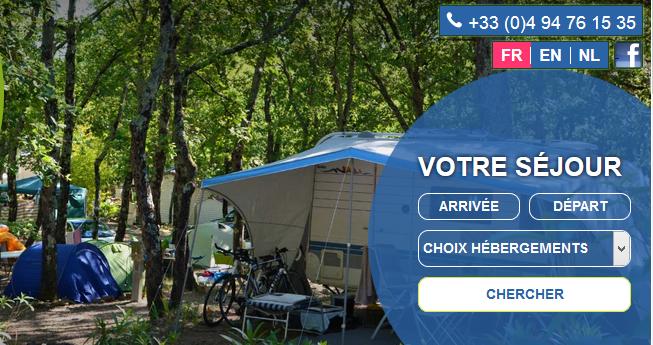 Camping du Var emplacement pour des tentes